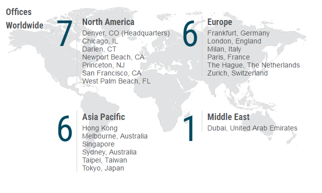 Offices Worldwide: 7 in North America, 6 in Europe, 5 in Asia Pacific, and 1 in the Middle East.