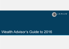 Wealth Advisor's Guide to 2016