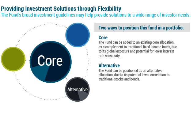 Two ways to position this fund in a portfolio: Core & Alternative