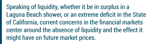 speaking of liquidity...