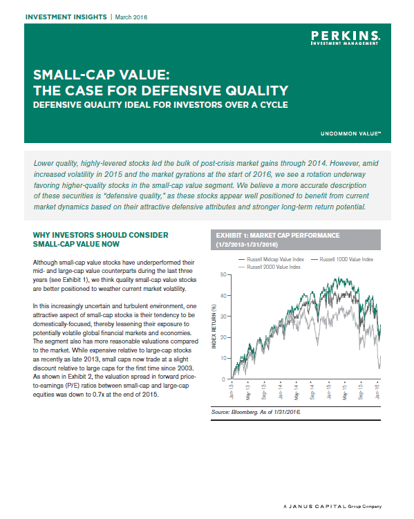 Small Cap Value: The Case for Defensive Quality